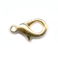 Karabijn Slotje goud  10mm / 10 stuks / KD3