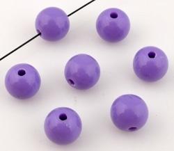 Perles synthétiques Violet /  8mm / 50 pcs / KD11331