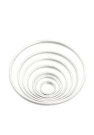Set ringen  rond van 8mm- tot 38mm zilverkleur / set / KD29080