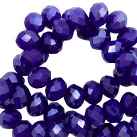 Blauw Pearl shine coating 8x6mm / Per stuk / KD65571