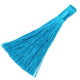 Kwastje 8cm Blauw / Per stuk / KD4246