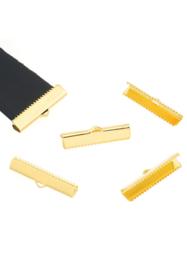Lintklem 20x8mm , goudkleur / 10 stuks / KD25136