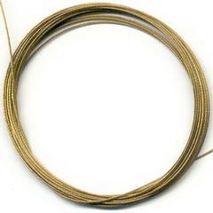 Staaldraad met coating  Goud / 10 meter / KD402