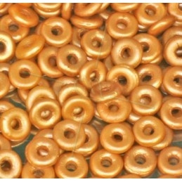 O bead  Crystal Pastel amber 2x4mm / 5 gram / KD61050