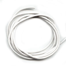 Waxkoord met glans  Wit 1mm  / Ca 5 meter / KD901