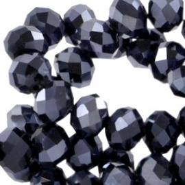 Hematiet Facet Kristal  4x3mm / 50 stuks / KD25428