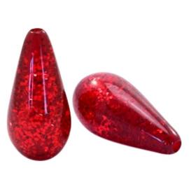Polaris Rood gevlamd  20x10mm  / per 2 stuks / KD57720