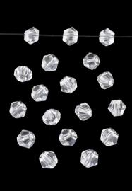 Bicones Cristal Facettes 4mm / 50 pcs / KD658