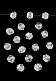 Bicones Kristal Facet  4mm / 100 stuks / KD20000