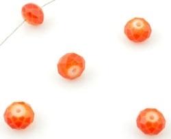 Oranje/ Rood Kristal Facet 6 mm / 50 stuks / KD12617