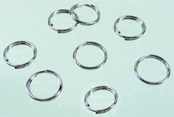 12mm Dubbel ringetjes Nikkelkleur  / 20 stuks / KD019