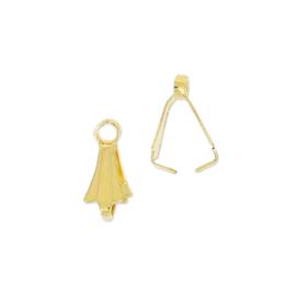 Klemmetje voor hanger Goud 10mm / 10 stuks / KD24705