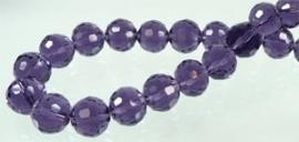 Facettes Cristal Violet 96 flancs  10mm / 15 pcs / KD03423