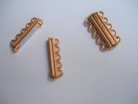 Magneetslot goud , 5 ringen / per stuk / KD24720