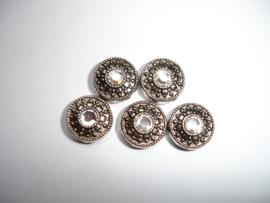 Verdeler met facet 2 gaatjes  Kristal /  5 stuks / KD1006