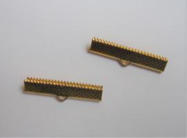 Embout à serrer doré  0,5x3cm  / 4 pièces / KD24724