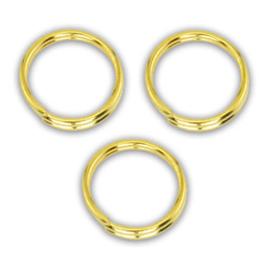 8mm Dubbel ringetjes goud, 0,7mm / 50 stuks / KD1