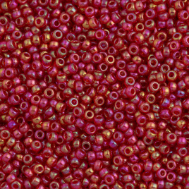Miyuki Rocaille  11/0  - Nr  0254  - 10 gram - Transparent Red AB