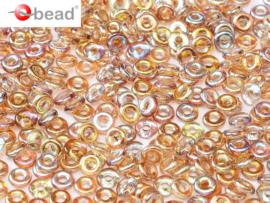 O bead Brown Rainbow 2x4mm / 5 gram / KD61048