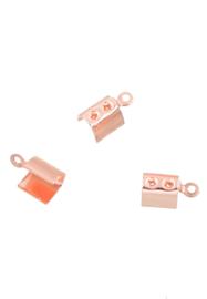 Veterklem Rosé goud  11x6mm / 10 stuks / KD24458