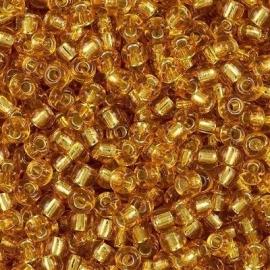 Miyuki Roc 8/0 nr 004 - 10 grammes -  Dark gold silver core