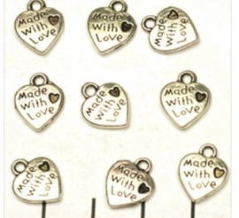 Breloques pendentif  'Made with Love' / KD4MP32