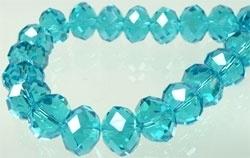 Blauw (Lichtblauw) Kristal Facet 10x8mm / 20 stuks / KD4271