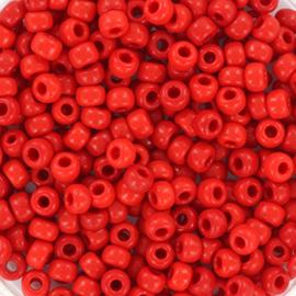 Miyuki Rocailles  8/0  - Nr  0408 - 10 gram  - Opaque red
