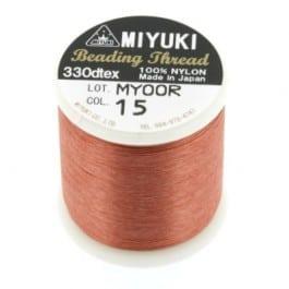 Miyuki Fil Nylon Beading thread B  - Brune - 50 mètres - Nr 15