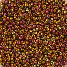 Miyuki Rocaille  15/0  - Nr 2449 - 5 gram - Transparant iris tea berry gold