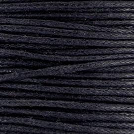 Waxkoord Zwart 1mm / ca 5 meter / KD28971