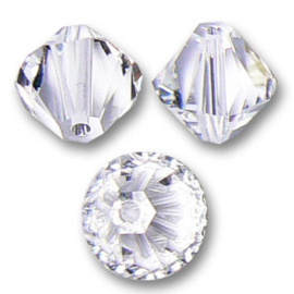 Nr 4  - 3mm  Toupies en cristal Swarovski Crystal  /  Par 100 pièces