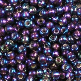 Miyuki Rocaille  6/0 -  nr  1013 - 10 gram - Silverlined ab dark smoky amethyst