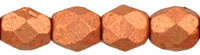 Matte Light  Copper Fire Polished   4mm  / 100 stuks / KD741