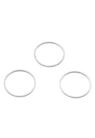 Ronde ringen zilverkleur 25mm / per stuk / KD27940