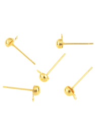 Clous Boucles d'oreilles  14x6 mm Or /  5 paires / KD24883