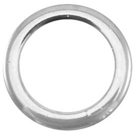Metaal dichte ring 18 mm Antiek Zilver / 2 stuks / KD23282