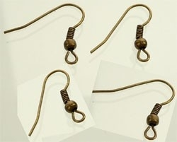 Crochets Boucles d'Oreilles Bronze /par 5 paires / K228