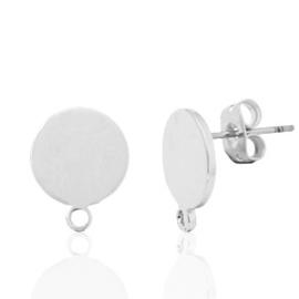 Clous d'oreilles  10mm  SANS Nickel / 2 pièces / KD61253