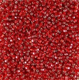 Miyuki Roc 8/0 nr 0011 -10 grammes  -  Sl Ruby Flame Red