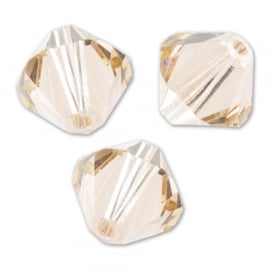 Nr 9 - 3mm  Swarovski Bicone  5328  Light silk / Per 100 stuks