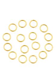 8mm Enkel ringetjes Goud / 20 stuks / KD24164
