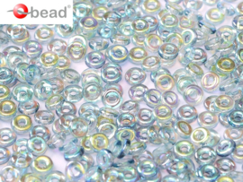 O bead Blue Rainbow 2x4mm / 5 gram / KD61046
