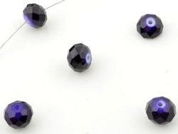 Violet Rondel Facettes / 10x8mm / 20 pcs / KD12612