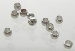 Knijpkralen 2mm nikkelkleur/ 5 gram / K435