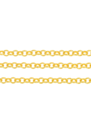 Schakelketting  5mm , goudkleur / ca 1  meter /  KD24485