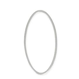 Ovale ring 53mmx28mm , Rhodium / Per stuk / KD24932