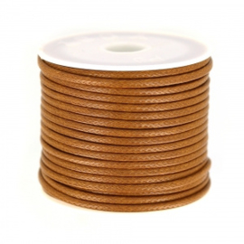 Polyester Koord bruin 2 mm / Ca9 meter / KD449