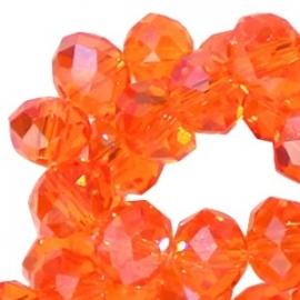 Oranje Kristal Facet 4x3mm / 50 stuks / KD835