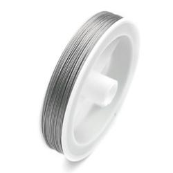Fil acier coating argenté 0,38mm / 100 mètres / KD217